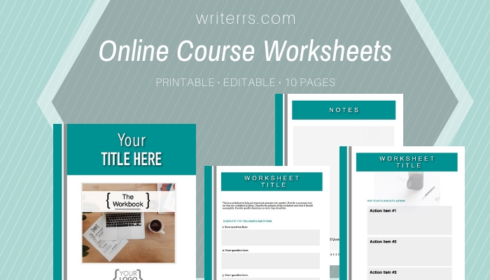 picture about Worksheet Design named All Industries: Training course Worksheet Templates Sandra Shillington Article content Means for Homeowners